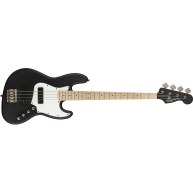 Fender Squier Contemporary Active HH 4-String Jazz Bass, Flat Black, Maple