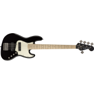 Fender Squier Contemporary Active HH V 5-String Jazz Bass Flat Black, Maple
