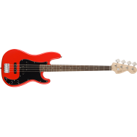 Fender Squier Affinity Series 4-String Precision P J Electric Bass in Race