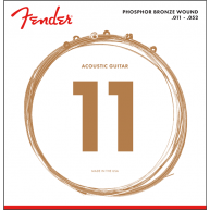 Fender 60CL Phosphor Bronze Acoustic Guitar Strings Custom Light 11-52