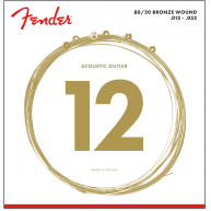 Fender 70L 80/20 Bronze Acoustic Guitar Strings Light Gauge 12-52