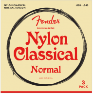 Fender Normal Tension Nylon Classical Tie End 28-43 Guitar Strings 3 Pack
