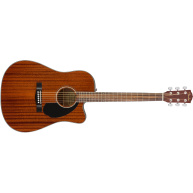 Fender CD-60SCE Acoustic-Electric Dreadnought Guitar, All Mahogany