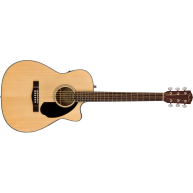 Fender CC-60SCE Concert Size Cutaway Acoustic Electric Solid Top Guitar