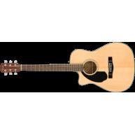 Fender CC-60SCE LH Left Handed Concert Size Acoustic Electric Cutaway Guita