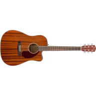 Fender CD-140SCE Acoustic Electric Mahogany Dreadnought Guitar W/Hard Case