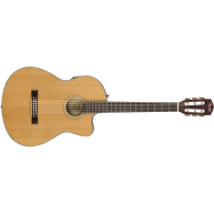 Fender CN-140SCE Natural Acoustic Electric Solid Top Classical Guitar w/Cas