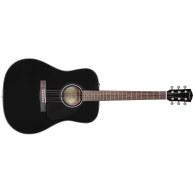 Fender CD-60 BK Black Spruce Top Acoustic Dreadnought Guitar w/Hardshell Ca