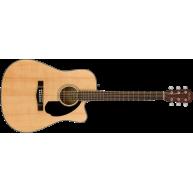 Fender CD-60SCE Natural Solid Top Acoustic Elec Cutaway Dreadnought Guitar