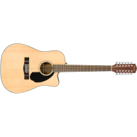 Fender CD-60SCE 12 String Cutaway Solid Top Acoustic Electric Guitar 097019