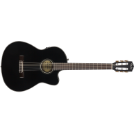 Fender CN-140SCE BLACK Acoustic Electric Solid Top Classical Guitar w/Case