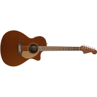 Fender Newporter Player Model Electric Acoustic Guitar in Rustic Copper -SO