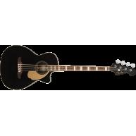 Fender Kingman Bass 4-String Acoustic Electric Black Bass Guitar w/Bag - De