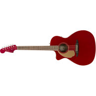 Fender Newporter Player Lefty Electric Acoustic Guitar in Candy Apple Red -