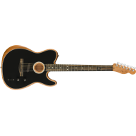 Fender American Acoustasonic Telecaster Acoustic Electric Guitar , Black -