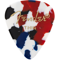 Fender 351 Premium Celluloid Guitar Picks - Confetti THIN 144-Pack (1 Gross