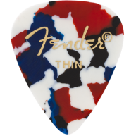 Fender 351 Shape Premium Guitar Picks, Thin, Confetti, 12 Count #0980351750