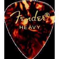 Fender 351 Classic Shape Premium Heavy Celluloid Guitar Picks 12-Pack Shell