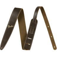 "Genuine Fender Distressed Brown Leather Guitar Strap #0990628050, 2"" Wide"
