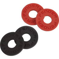 Set of four Fender Strap Blocks (two black and two red) for locking your St