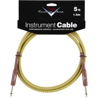 Genuine Fender® 5' Custom Shop Gold Tweed Instrument Cable #0990820027 - 5