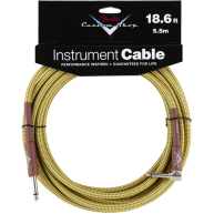 Genuine Fender® 18.6' Custom Shop Tweed ANGLE Instrument Cable  # 099082003