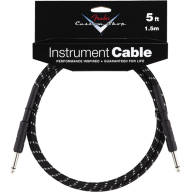 Genuine Fender 5' Custom Shop Black Tweed Guitar Amp Cable #0990820034 - 5