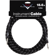 Genuine Fender® 18.6' Custom Shop Black Tweed Instrument Cable #0990820037