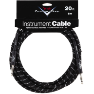 Genuine Fender® 20' Custom Shop Black Tweed Instrument Cable #0990820052 -