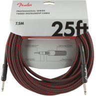 Fender® 25' Professional Series Red Tweed Instrument Cable #0990820070 - 25