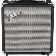 Fender Rumble™ 15 , Black/Silver- 15 Watt Electric Bass Guitar Combo Amp -