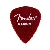 Fender 351 California Clear™ Picks, Medium, Candy Apple Red, 144 Count