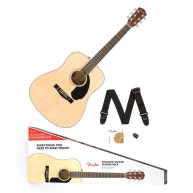 Fender CD-60S Solid Spruce Top Acoustic Dreadnought Guitar, PACK Natural, N