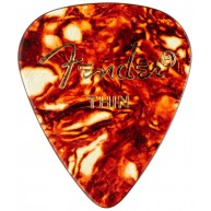 Fender 351 Classic Celluloid Picks, Thin, Tortoise Shell , 144 Count (1 Gro