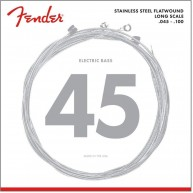 Fender Stainless 9050ML Bass Strings, Stainless Steel Flatwound, Gauge .045