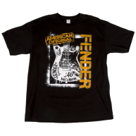 Fender Spraypaint Graffiti T Shirt - Black, Size XL #9101363606