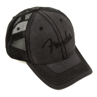 Fender Blackout Vintage Washed Style Adjustable Trucker Hat #9106644000