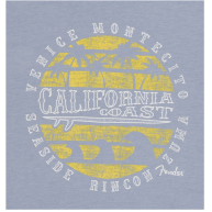 Fender® Cali Coastal Yellow Waves Men's Tee, Blue, XXL MODEL #: 9112003806