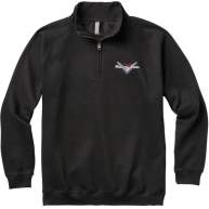 Fender® Custom Shop Half Zip Sweater, Black, Medium - #9123013063