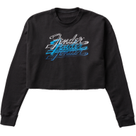 Fender Guitars Logo Women's Crop Pullover, Black, Size Large - #9123013118