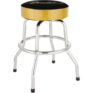Fender Black and Gold Sparkle 30 Inch Barstool w/Padded Seat #9125000020 -