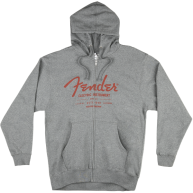 FENDER® ELECTRIC INSTRUMENTS MEN'S ZIP HOODIE - # 9129001806 - XXL