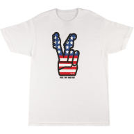 Fender Men's American Flag 4th of July Peace Sign T-Shirt, XXL #9127419506