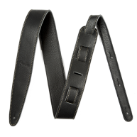 """Fender Artisan Crafted Leather Guitar Strap, 2"""" Black Adjustable from 40"""" -"""