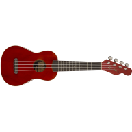 Fender Venice Model Cherry Finish Soprano Size Ukulele #0971610590 - Demo