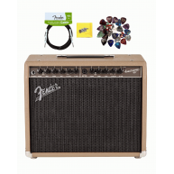 Fender Acoustasonic 90 Watt Acoustic Guitar Amplifier, Cable and Picks Bund