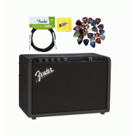 Fender Mustang GT 40 Watt Bluetooth  Guitar Amplifier, Cable and Picks Bund