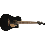 Fender Redondo Player Model Electric Acoustic Guitar in Jetty Black - AWESO