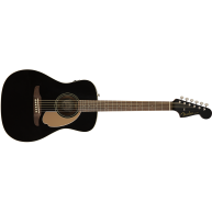 Fender Malibu Player Model Electric Acoustic Guitar in Jetty Black - SO COO