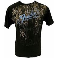 Genuine Fender Heaven's Gate Black T-Shirt Men's Size Medium #9101040406